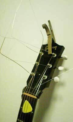 汚いギター弦