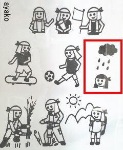 た〜ぼ〜タオル使用方法絵